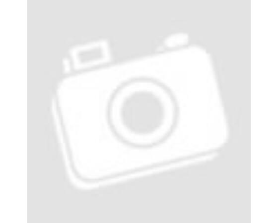 Nemesacél gyűrű kék cseppel, téglalap alapon